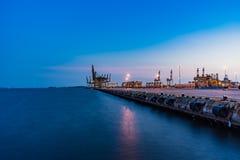 Singapur Przemysłowy portowy półmrok, Logistycznie pojęcie obraz royalty free