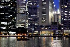 Singapur przy nocą Zdjęcie Stock