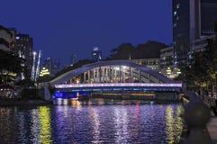 Singapur przy nocą Obraz Royalty Free