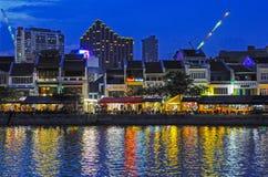 Singapur przy nocą Zdjęcie Royalty Free
