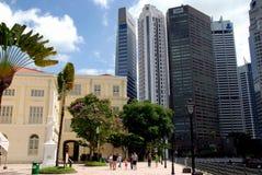 Singapur: Raffles-Landeplatz stockbilder
