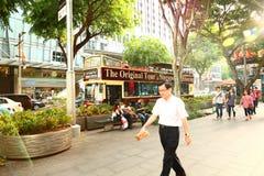 Singapur: Reisebus in Singapur Lizenzfreie Stockbilder