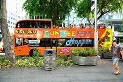 Singapur: Reisebus in Singapur Stockfotos