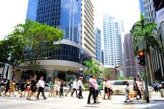 Singapur godzina szczytu Fotografia Royalty Free