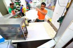 Singapur: Roti-prata Stockbild