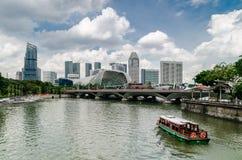 Singapur rzeka i esplanada zdjęcia stock