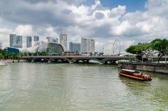 Singapur rzeka i esplanada obraz royalty free