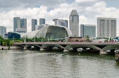 Singapur rzeka i esplanada fotografia stock
