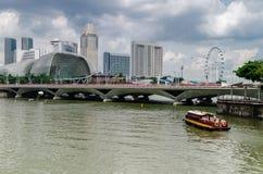Singapur rzeka i esplanada obrazy royalty free