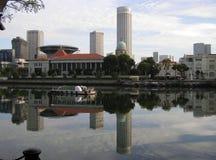 Singapur rzeki linia horyzontu Obrazy Royalty Free