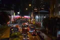 Singapur-` s Chinatown nachts Stockbilder