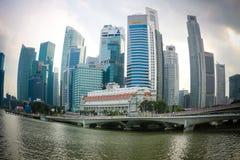 Singapur s dzielnica biznesu Obraz Royalty Free