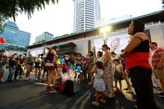 Singapur: Sad droga Zdjęcie Royalty Free