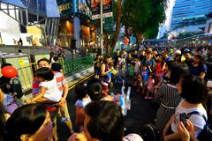 Singapur: Sad droga Zdjęcie Stock