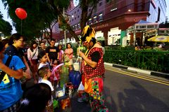 Singapur: Sad droga Obraz Royalty Free
