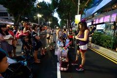 Singapur: Sad droga Zdjęcia Stock