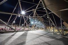 Singapur-Schneckenbrücke während der Stunde des frühen Morgens lizenzfreies stockfoto