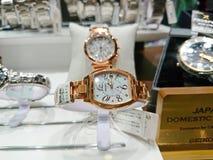 Singapur: SEIKO zegarek fotografia stock