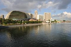 Singapur-Skyline Stockfotografie