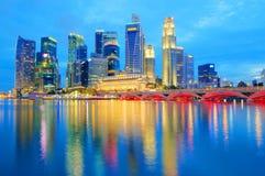 Singapur-Skyline 2010 Stockbilder