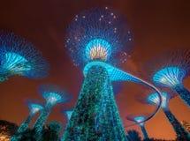 Singapur-Skyline und Ansicht von Marina Bay Lizenzfreie Stockfotografie