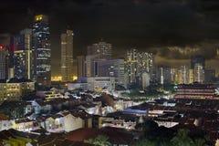 Singapur-Skyline und Chinatown-Stadtbild lizenzfreie stockfotografie