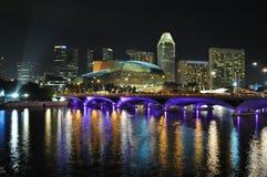 Singapur-Skyline und Fluss Stockfotos