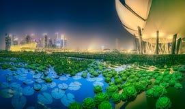 Singapur-Skylinehintergrund Lizenzfreies Stockfoto