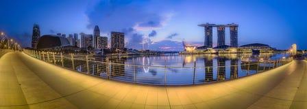 Singapur-Skylinehintergrund Stockbilder