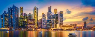 Singapur-Skylinehintergrund Stockfotografie