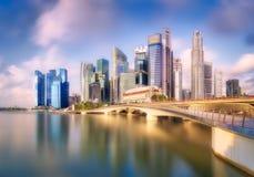 Singapur-Skylinehintergrund Lizenzfreies Stockbild