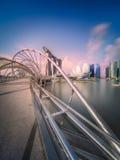 Singapur-Skylinehintergrund Stockfotos