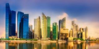 Singapur-Skylinehintergrund Lizenzfreie Stockfotos