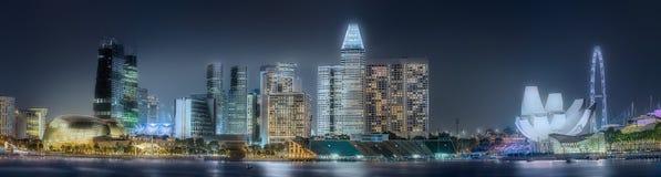 Singapur-Skylinehintergrund Stockbild