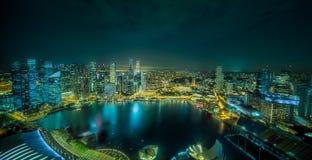 Singapur-Skylinehintergrund Lizenzfreie Stockfotografie
