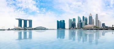 Singapur-Skylinepanorama lizenzfreies stockbild