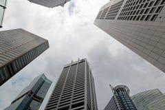 Singapur Skyscrappers Imágenes de archivo libres de regalías