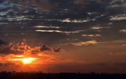 Singapur-Sonnenuntergang Stockbild
