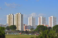 Singapur-Sozialwohnung (HDB-Ebenen) in Jurong Ost Stockbilder