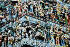 Singapur: Sri Veeramakaliamman hinduistischer Tempel Lizenzfreie Stockfotos