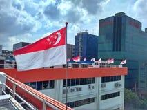 Singapur-Staatsflaggen Lizenzfreies Stockbild