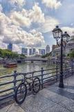 Singapur-Stadt im Stadtzentrum gelegen in der Tageszeit lizenzfreie stockbilder