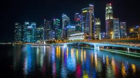 Singapur-Stadt Luft-timelapse Wolkenkratzer stock footage