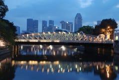 Singapur-Stadt morgens Lizenzfreie Stockfotografie