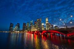 Singapur-Stadt-Skyline Stockfotografie