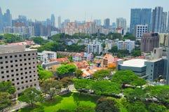 Singapur-Stadtbild am Bereich des Obstgartens CBD Lizenzfreie Stockfotografie