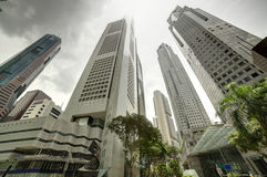 Singapur-Stadtbild an der Tageszeit lizenzfreies stockbild