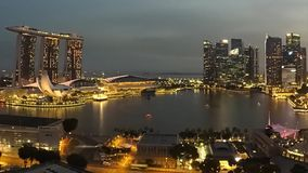 Singapur-Stadtbild mit Marina Bay Sands Hotel stock video footage