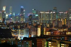 Singapur-Stadtbild von Mt Faber Lizenzfreie Stockfotografie