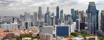 Singapur-Stadtbild-Zentrale-Geschäftsgebiet stockfotos